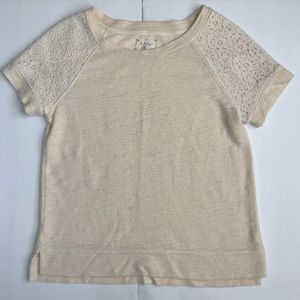 Anthropologie Lou & grey lace sweater top 196C141